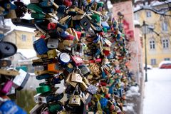 Love locks in Prague Stock Images