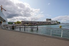 Love locks on the Rijnhaven bridge in Rotterdam royalty free stock photos