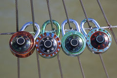 Love locks Stock Images