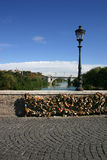 Love locks in rome stock images