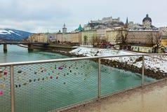 Love locks in Salzburg Austria Stock Photography