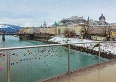 Love locks in Salzburg Austria Royalty Free Stock Photos