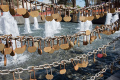 Love Locks at the Swan Bell Tower Royalty Free Stock Photography