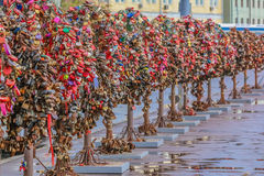 Love locks symbolizing  marriage and engagement Royalty Free Stock Photos
