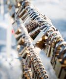 Love locks Royalty Free Stock Photography