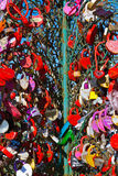 Love locks tree in Moscow Russia Stock Image