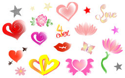 Love Logos icons illustrations Royalty Free Stock Photography