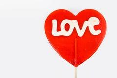 Love lollipop Stock Photos