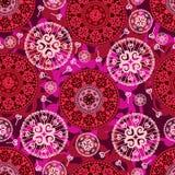 Love lollipop mandala seamless pattern Stock Photos
