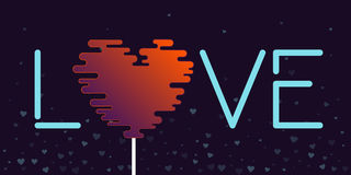 Love lollipop valentine greeting card. Vector illustration Stock Image
