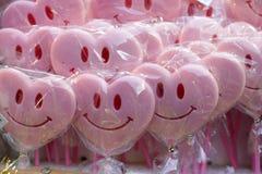 Love lollipops at market. Love rose lollipops at market Stock Images