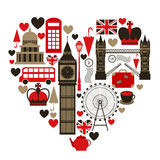 Love London heart symbol Royalty Free Stock Photo