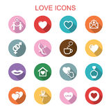 Love long shadow icons Royalty Free Stock Photos