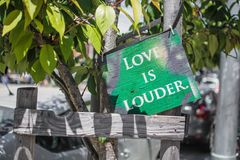 Love is Louder Royalty Free Stock Photography