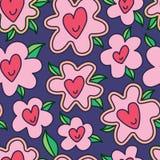 Love love flower seamless pattern Royalty Free Stock Image