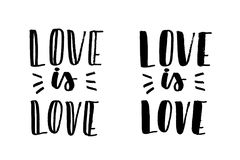 Love is love lettering Royalty Free Stock Photo
