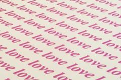 Love love love. Beautiful background of love word Stock Image