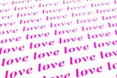 Love love love. Beautiful background of love word Stock Photos
