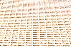 Love love love. Beautiful background of love word Stock Images