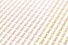 Love love love. Beautiful background of love word Stock Photo