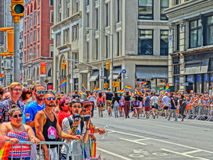 Love is love. New York City pride day in which many people celebrated their pride for identity an equal love for all Stock Photo