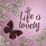 Love is lovely. Royalty Free Stock Image