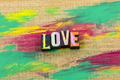 Love lover life live emotion expression enjoy typography print royalty free stock image