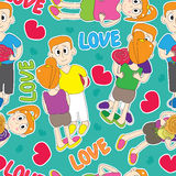 Love Lover Seamless Pattern_eps Stock Images