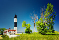 Love Ludington Sable Point. The Bright Sable Point stands tall on the shore of Lake Michigan, USA stock photo