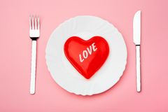 Love lunch Stock Images