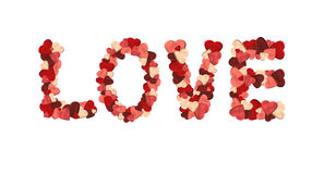 Love made from hearts Stock Photography