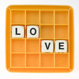 love made by letters Royalty Free Stock Image
