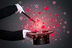 Love magic. From a magician`s hat Royalty Free Stock Photography