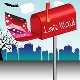 Love mail stock photo