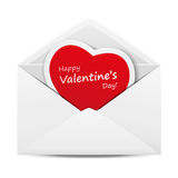 Love mail. With Valentine card vector illustration