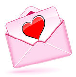 Love mail envelope Royalty Free Stock Image