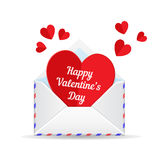 Love mail, valentine heart. Love mail, valentines day heart. Paper cut heart and envelope isolated on white background. Template for holiday design Royalty Free Stock Images
