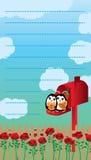 Love mailbox letter penguin decor Royalty Free Stock Photos