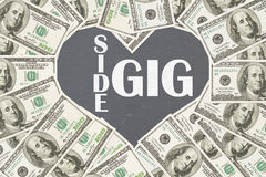 Love making money with your side gig royalty free stock photo