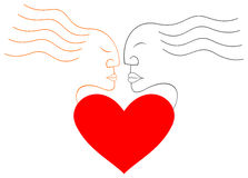 Love - man and woman. Stock Image