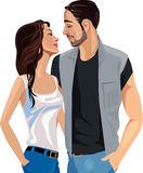 Love man and woman looking at each other Royalty Free Stock Image