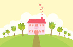Love Mansion. From the looks of it, someone's cooking royalty free illustration