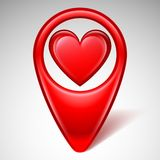 Love Map Pointer Royalty Free Stock Photos