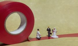 Love and marriage. The little people. stock photos