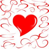 Love married heart background Royalty Free Stock Photography