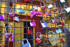 Love messages padlocks Royalty Free Stock Image