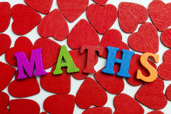 Love math. On the little hearts are the letters Stock Photos