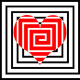 Love maze Stock Photo