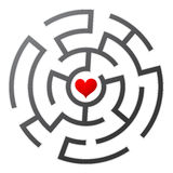 Love maze. Find the way to your heart Royalty Free Stock Images