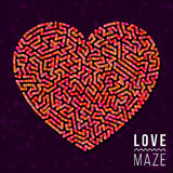 Love Maze Heart Shape Vector Element Royalty Free Stock Photos